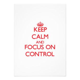 Mantenha a calma e o foco no controle