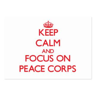 Mantenha a calma e o foco no corpo de paz