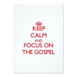 Mantenha a calma e o foco no evangelho convite 12.7 x 17.78cm