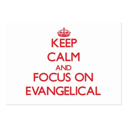 Mantenha a calma e o foco no EVANGELICAL Cartão De Visita