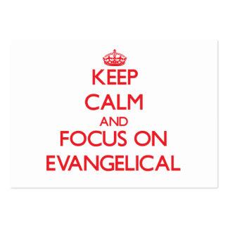 Mantenha a calma e o foco no EVANGELICAL Cartão De Visita Grande