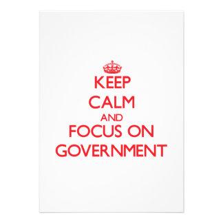 Mantenha a calma e o foco no governo