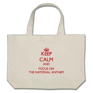 Mantenha a calma e o foco NO HINO NACIONAL Bolsa Para Compra