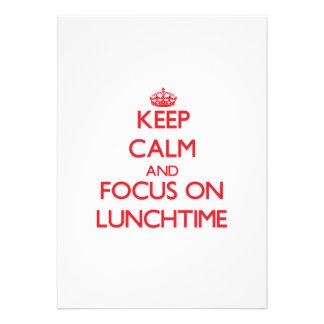 Mantenha a calma e o foco no hora do almoço