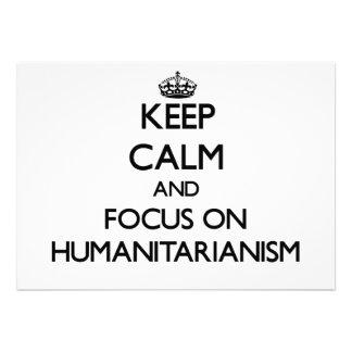 Mantenha a calma e o foco no Humanitarianism