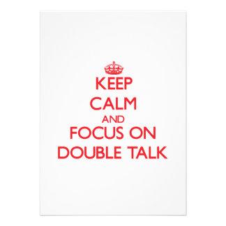 Mantenha a calma e o foco no linguagem confusa convite