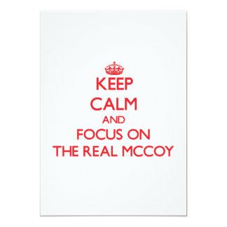 Mantenha a calma e o foco no Mccoy real