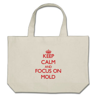 Mantenha a calma e o foco no molde bolsa para compras