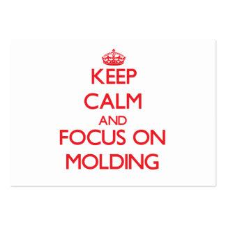 Mantenha a calma e o foco no molde
