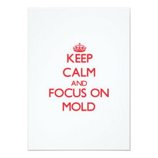 Mantenha a calma e o foco no molde convite 12.7 x 17.78cm