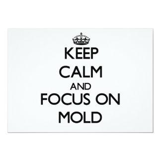 Mantenha a calma e o foco no molde convites personalizados
