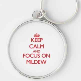 Mantenha a calma e o foco no oídio chaveiros