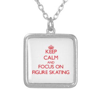 Mantenha a calma e o foco no patinagem artística