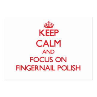 Mantenha a calma e o foco no polonês de unha