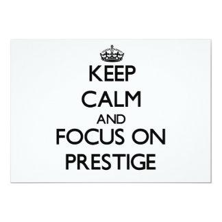 Mantenha a calma e o foco no prestígio convite personalizados