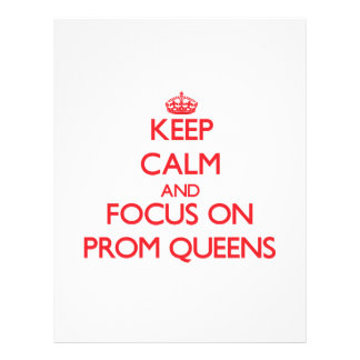 Mantenha a calma e o foco no Queens de baile de Panfleto Personalizados