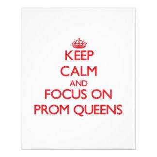 Mantenha a calma e o foco no Queens de baile de Panfleto Personalizado