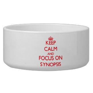 Mantenha a calma e o foco no sumário