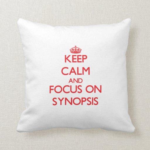 Mantenha a calma e o foco no sumário travesseiro