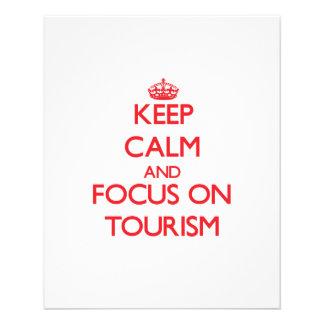 Mantenha a calma e o foco no turismo panfleto