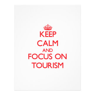 Mantenha a calma e o foco no turismo panfletos personalizados