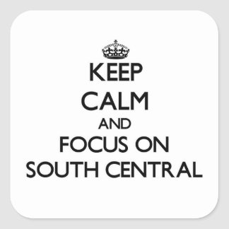 Mantenha a calma e o foco para o sul na central adesivos quadrados