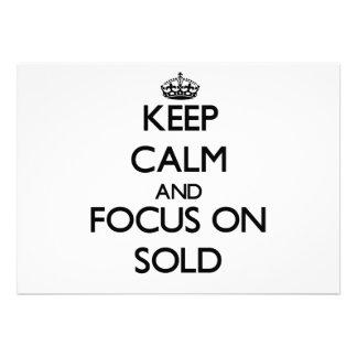 Mantenha a calma e o foco Sold