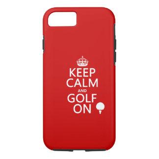 Mantenha a calma e o golfe sobre - disponíveis em capa iPhone 7
