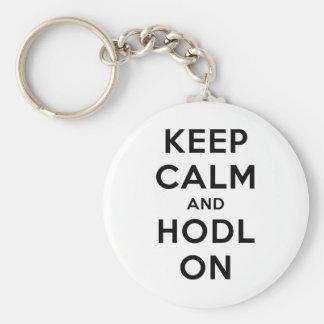 Mantenha a calma e o Hodl no chaveiro básico (a