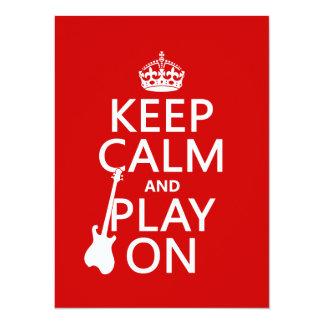 Mantenha a calma e o jogo em (guitarra) (alguma convite personalizado
