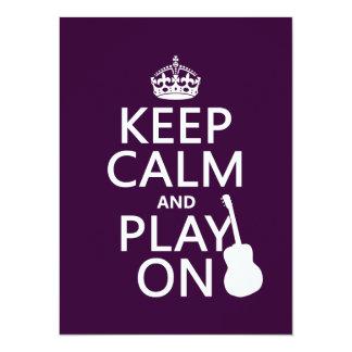 Mantenha a calma e o jogo em (guitarra) (todas as convites