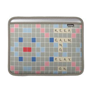 Mantenha a calma e o jogo sobre capas para MacBook air
