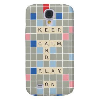 Mantenha a calma e o jogo sobre galaxy s4 case
