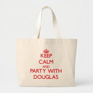 Mantenha a calma e o partido com Douglas Bolsas De Lona