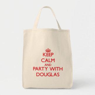 Mantenha a calma e o partido com Douglas Bolsas Para Compras