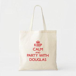 Mantenha a calma e o partido com Douglas