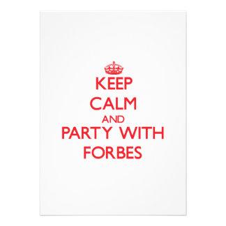 Mantenha a calma e o partido com Forbes Convite