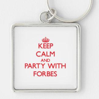 Mantenha a calma e o partido com Forbes Chaveiros