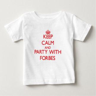 Mantenha a calma e o partido com Forbes T-shirt