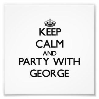 Mantenha a calma e o partido com George Fotos