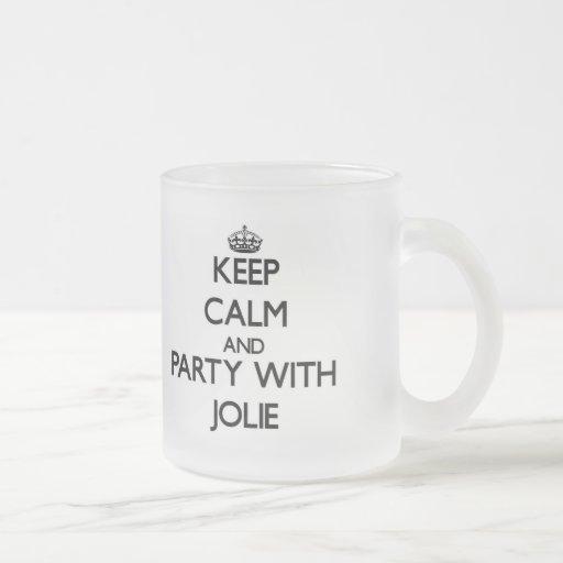 Mantenha a calma e o partido com Jolie Canecas