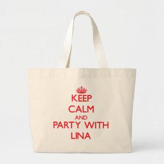Mantenha a calma e o partido com Lina Bolsa Para Compra