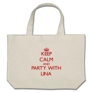 Mantenha a calma e o partido com Lina Bolsas De Lona