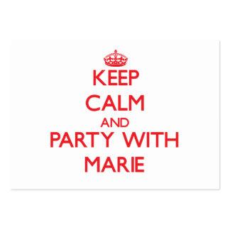 Mantenha a calma e o partido com Marie Cartão De Visita