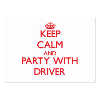 Mantenha a calma e o partido com motorista
