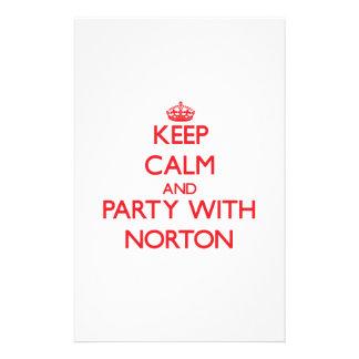 Mantenha a calma e o partido com Norton Papel Personalizado