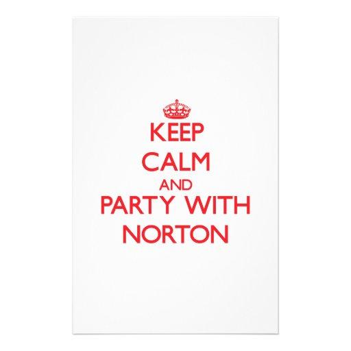 Mantenha a calma e o partido com Norton Papelaria Personalizada