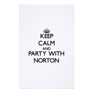 Mantenha a calma e o partido com Norton Papeis Personalizados