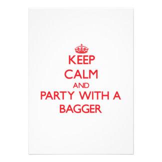 Mantenha a calma e o partido com um Bagger Convite
