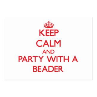 Mantenha a calma e o partido com um Beader Modelos Cartao De Visita